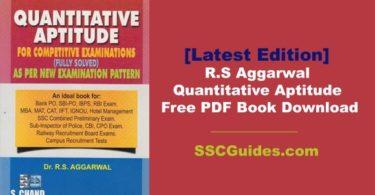 R.S Aggarwal Quantitative Aptitude Free PDF