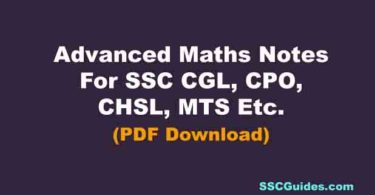 Advanced Maths Notes For SSC CGL