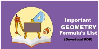 Geometry Formulas in Hindi PDF