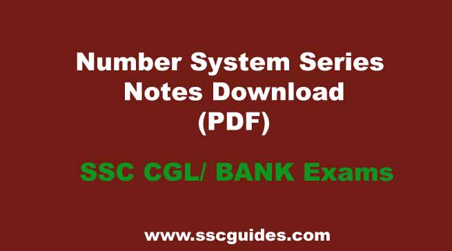 Number System Series Notes Download
