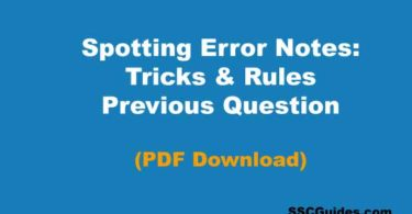 Spotting Error Notes PDF