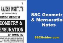 SSC Geometry Aur Mensuration Notes