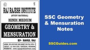 SSC Geometry Aur Mensuration Notes