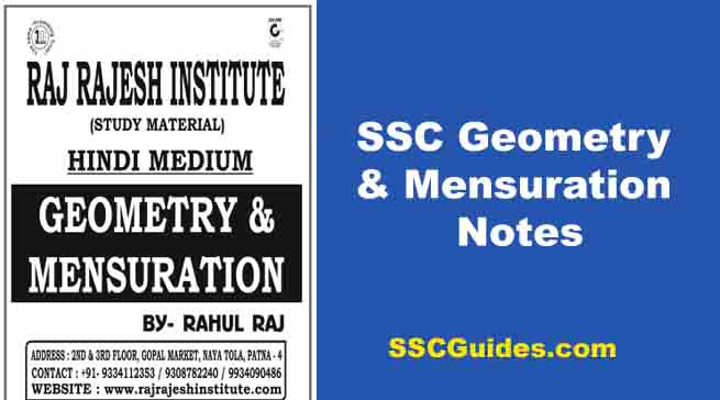 Ssc Math Note