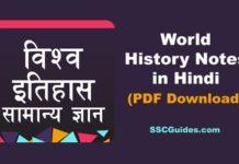 World History Notes in Hindi PDF