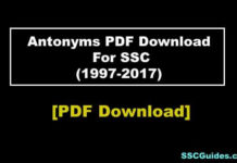 Antonyms PDF Download For SSC