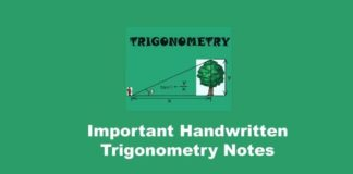 Important Handwritten Trigonometry Notes