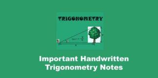ImportantHandwritten Trigonometry Notes