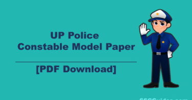 UP Police Constable Model Paper PDF