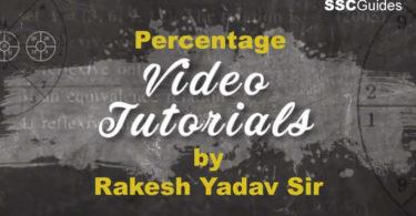 Percentage Video Chapterby Rakesh Yadav Sir