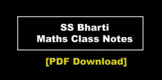 MATHS CLASS NOTES BY S S BHARTI