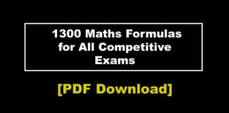 all Maths Formula list