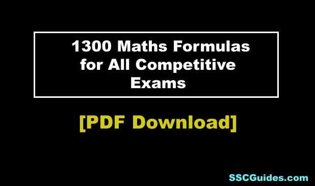 all Maths Formula list
