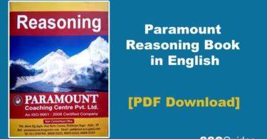 Paramount Reasoning Book in English