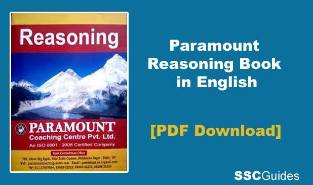 Paramount Reasoning Book in English