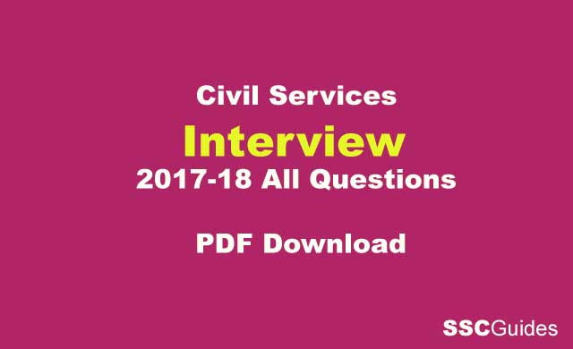 Civil Services Interview All Questions PDF