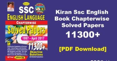 Kiran SSC English 11300+ Chapterwise (1997-2019) PDF