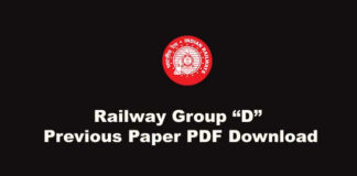 Railway Group D Sample Paper PDF