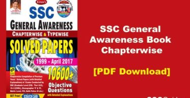 SSC General Awareness Chapterwise PDF