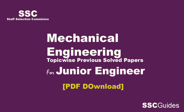 SSC JE Mechanical Engineering