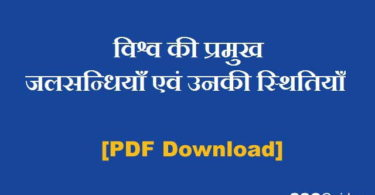 World important straits in Hindi PDF