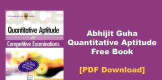 Abhijit Guha Quantitative Aptitude Free PDF