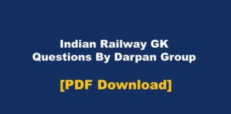 Indian Railway GK By Darpan Group PDF