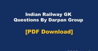 Indian Railway GK By Darpan Group PDF