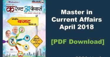 Master in Current Affairs PDF