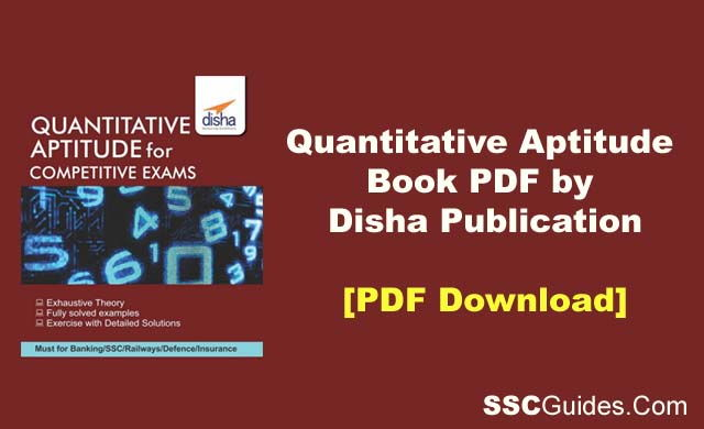 Quantitative Aptitude Book PDF by Disha
