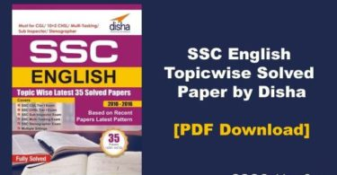 SSC English Topicwise Solved Paper by Disha