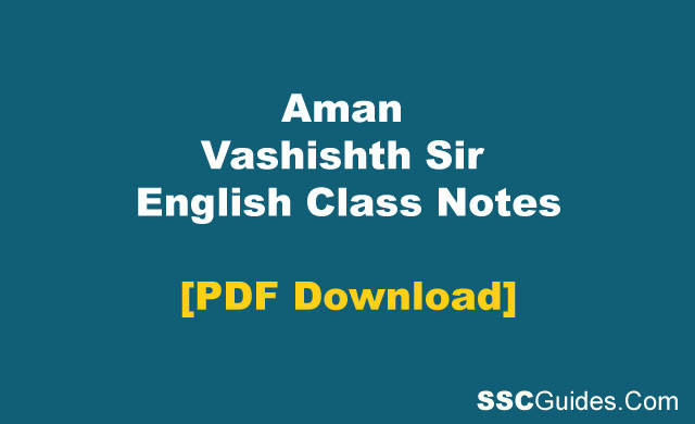 English Class Notes PDF