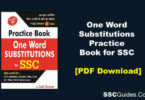 One Word Substitutions Practice Book One Word Substitutions Practice Book