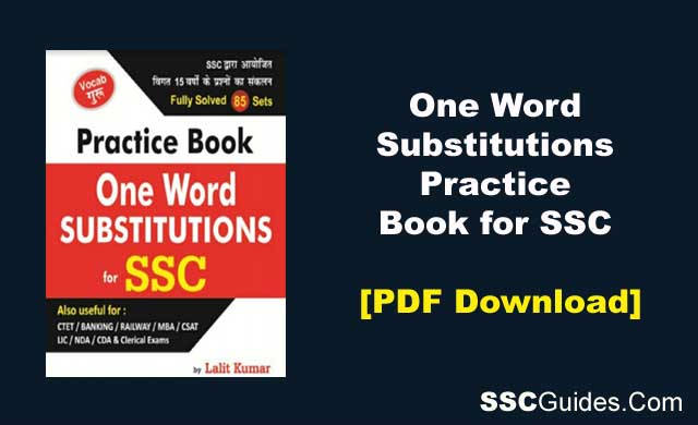 One Word Substitutions Practice Book