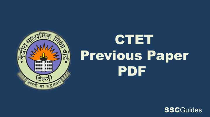 CTET Previous Year Question Paper