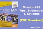 Mission IAS – Prelim/ Main Exam Book PDF Download
