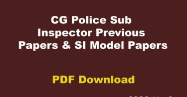 CG Police Solved Papers
