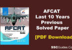 AFCAT Previous Years Paper PDF