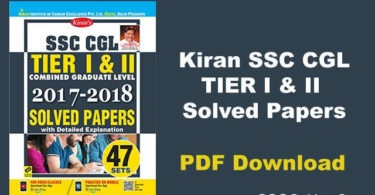 Kiran SSC CGL Solved Papers PDF