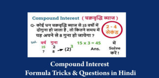 Compound Interest Tricks in Hindi