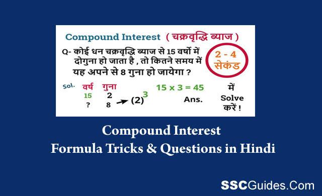 Compound Interest Tricks in Hindi