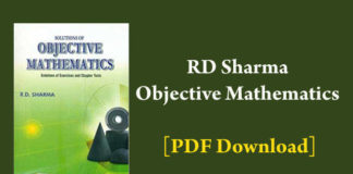 rd sharma objective mathematics pdf