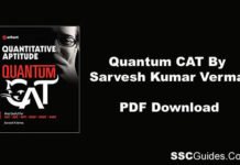 Quantum CAT Book By Sarvesh Kumar Verma