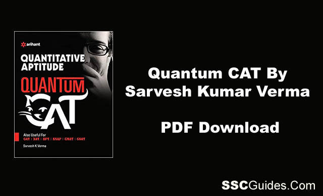 Quantum CAT Book By Sarvesh Kumar Verma
