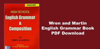 Wren and Martin English Grammar Book PDF
