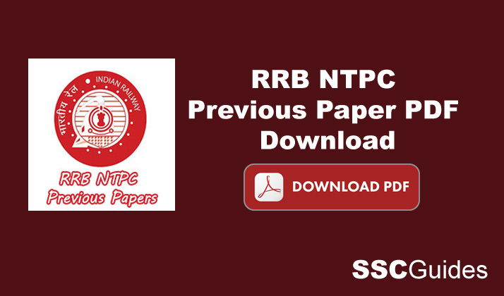 Download RRB NTPC Previous Papers PDF