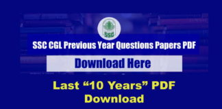 SSC CGL Previous Year Papers PDF