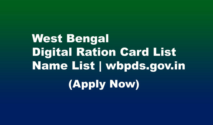 digital ration card list west bengal