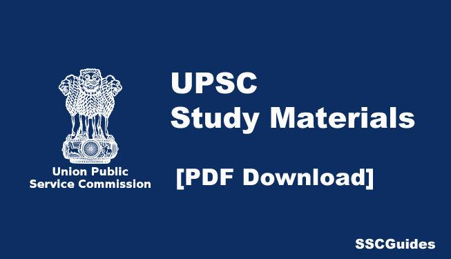 upsc study materials