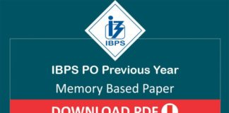 IBPS PO Previous Year Question Paper